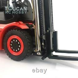 1/14 LESU ESC Motor Light Linde Hydraulic Forklift Painted Transfer RC Truck Car