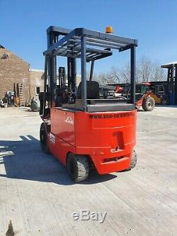 1992 3500KG ELECTRIC LINDE COUNTERBALANCE FORKLIFT TRUCK 6300mm 6.3m LIFT HEIGHT