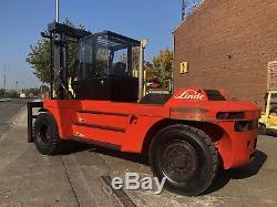 1997 Linde H120-1200 12T Diesel Used Forklift Truck Full Cabin