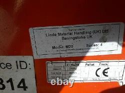 2.5 Tonne 2500kg Linde hand pallet pump truck forklift Warehouse Lifting