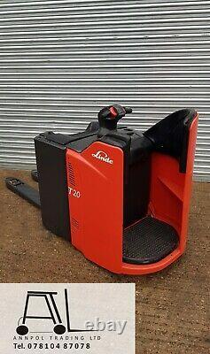 2010 LINDE T20 SP 2000kg ELECTRIC PALLET TRUCK FORKLIFT £1450+VAT