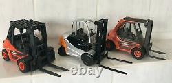 3 x Heavy truck Linde H50/1100, H50, STILL RX60-80 forklift fork lift SCALE 1/25