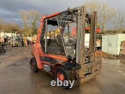 98 Linde H60D Forklift Fork Truck Diesel 6 Ton Lift