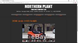 #A0055 1996 Linde H40D 4,000KG capacity diesel forklift truck. Perkins engine