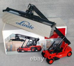 BLUE CDLinde Container Reach Stacker forklift truck fork lift + Metal cont. MiB