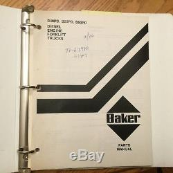 Baker B40PD B50PD B60PD PARTS MANUAL BOOK CATALOG FORKLIFT TRUCK DIESEL GUIDE