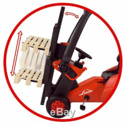 Big Linde Forklift Chain Drive Steering Lockable Seat Carrier Removable Cab 3+