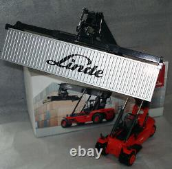 Blac CDLinde Container Reach Stacker forklift truck fork lift + Metal cont. MiB