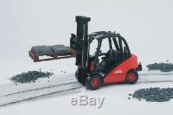 Bruder Linde Fork Lift Truck H30D & 2 Pallets Children Kids Toy Model Scale 116