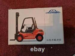 Collection of Linde Diecast Forklift Truck Models Boxed