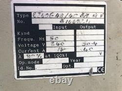 EUROTRON 48V 40A FORKLIFT REACH TRUCK BATTERY CHARGER 1PH SINGLE PHASE 240v BOAT