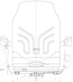 Grammer MSG 20 narrow Pvc forklift Reach truck Seat Jungheinrich Still Linde