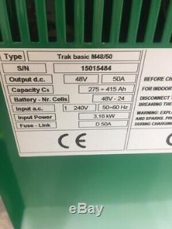 Hoppecke 48v Single Phase 50 amp Forklift Truck Battery Charger HysterYale Linde