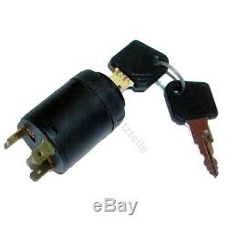 Ignition switch E254 for Linde forklift, pallet truck (3 pin, 2 positions)