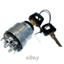Ignition switch K80 for Linde forklift, pallet truck (10 pin, 5 positions)