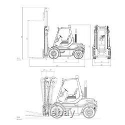 LESU RC DIY 1/14 Model Linde Forklift Transfer Car Truck ESC Motor Radio Painted