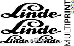 LINDE Forklift Vinyl Decals Sticker Kit Forklift Truck Spare Parts LIN1