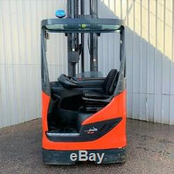 LINDE R14HD USED REACH FORKLIFT TRUCK (11500mm LIFT) (#2930)
