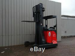 LINDE R20s USED ELECTRIC REACH FORKLIFT TRUCK. (#2306)