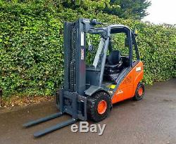 Linde Diesel Counterbalance Forklift Truck/Full Free Lift Container Spec Mast
