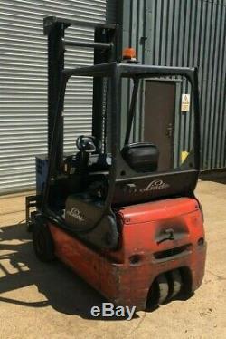 Linde E14-02 fork lift 3 wheel 1400kgs warehouse forklift truck