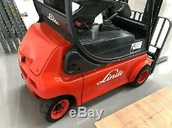Linde E18 1.8T Electric 4-Wheel Double Mast Forklift Truck, Good Batteries