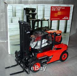 Linde H 100-180 D Heavy truck forklift fork lift truck MINT IN BOX SCALE 1/25