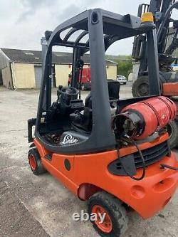 Linde H18T GAS/LPG Counterbalance forklift truck. Container Stuffer Mast