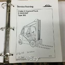 Linde H20/25 D/T (TYPE 392) SERVICE SHOP REPAIR MANUAL IC FORK LIFT TRUCK GUIDE