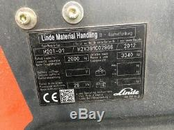 Linde H20t 391 Gas Forklift Truck 2012 2000 KG Lift Capacity