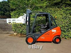 Linde H25D-02 Diesel Forklift Truck/Year 2014/ Fitted with Class 3 Bale Clamp