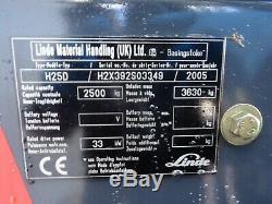 Linde H25d Used Diesel Forklift Truck. (#2735)