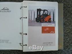 Linde H40D H45D H50D H500D Forklift Lift Truck Owner Operator Maintenance Manual