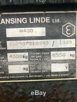 Linde H40d Diesel Used Forklift Truck Cabin