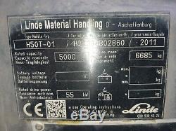 Linde H50t/ 394 2011 Gas F/l Truck 5000kg In An As In Condition Check Other Item