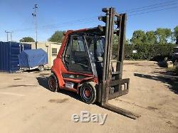 Linde H60D Diesel Forklift Fork Truck 6 Ton Deutz Engine