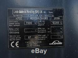 Linde H70d Used Diesel Forklift Truck. (#2401)