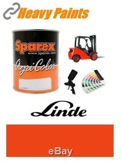 Linde Red Orange Forklift Truck Paint High Endurance Enamel Paint 1 Litre Tin