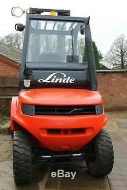 Linde h30dg-04 diesel forklift rough terrain yard truck, h25 h40, toyota, cat
