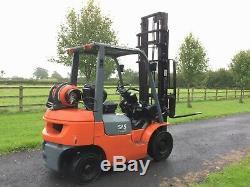 Toyota 2004 LPG gas 1800kg forklift truck / forktruck 4m duplex ss not linde