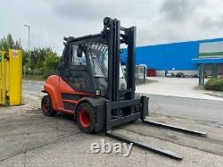 Used Diesel Forklift truck Linde H80D-02/900 2015 3.5m lift height 8000KG