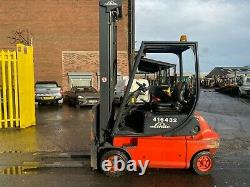 Used Electric Forklift truck Linde E20P-02 TRIPLEX 2000KG 6.2m lift