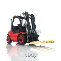 1/14 Lesu Esc Motor Radio Hydraulic Linde Forklift Painted Transfer Rc Truck Car