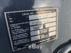 1998 Linde H20t 2t Gas Lpg Chariot Élévateur D'occasion
