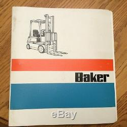 Baker B40pd B50pd B60pd Pièces Manuel Livre Catalogue Chariot Élévateur Guide Diesel