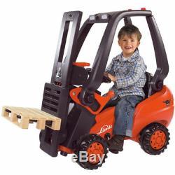 Big Linde Forklift Drive Chaîne Direction Verrouillables Porte-siège Amovible Cabine 3+