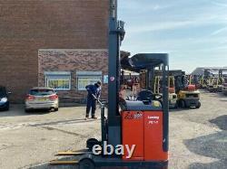 Chariot Électrique D'occasion Reach Truck Linde R14 1400kg 6.8m Hauteur De Levage 3000 Heures