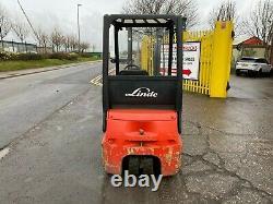 Chariot Élévateur Électrique Usé Linde E14 1400kg 3.3m Hauteur De Levage Contrainer Spec
