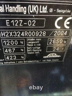 Élévateur À Fourche Électrique Linde E12 Chariot Élévateur À Fourche £5 750 + Vat
