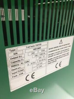 Hoppecke 24v 3 Phase 125 Ampères Chariot Élévateur Frontal Chargeur De Batterie Hysteryale Linde